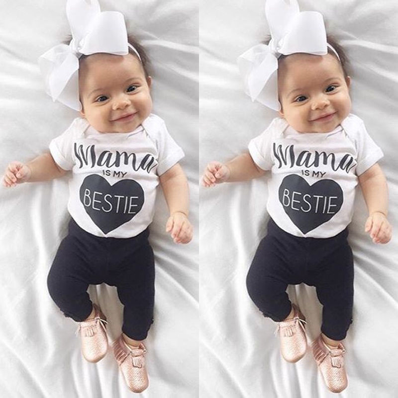 Infant baby girl clothes Cotton rompers o neck short sleeve newborn Jumpsuit Mama Prints playsuit baby onesie costume White Y3 baby girl boy romper tiny cottons white gray long sleeve angel wings baby clothes newborn jumpsuit rompers baby onesie costume