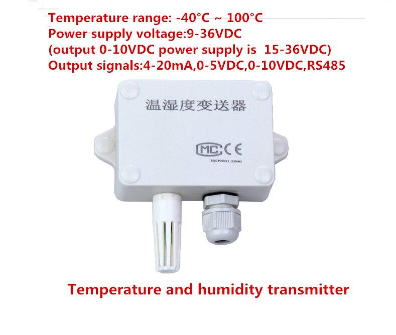 Tenture murale transmetteur de température et d'humidité capteur de température et d'humidité capteur hygrothermographe d'intérieur 4-20ma RS485