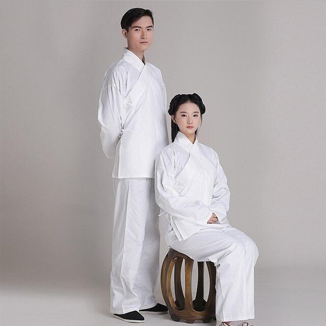 34b08d7b13 Back to han tang dynasties chinese Ancient pajamas clothing Jacket + Pants  original brand cotton Unisex