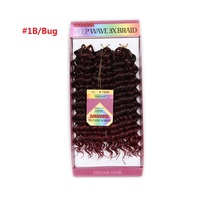 Crochet Braids Ombre Hair Extensions Pre Loop Crochet Synthetic Braiding Hair Jerry Curl Carribean Twist Synthetic