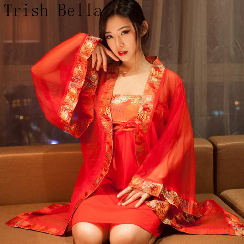 transparent Net yarn Edge Breast skirt Tang Costume pajamas Bathrobe girl sexy lingerie sexy costumes babydoll langeri lenceria in Lingerie Sets from Novelty Special Use