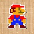 Jogos de Nintendo Super Mario Notebook/geladeira/skate/trole/mochila/Mesas/livro etiqueta DO PVC adesivo
