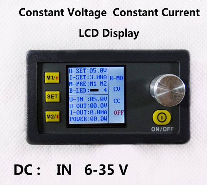 DP30V3A Constant Voltage meter and Current Step-down programmable Module Buck power supply DC in 6-35V  with fan maitech dc dc step down constant voltage constant current module yellow