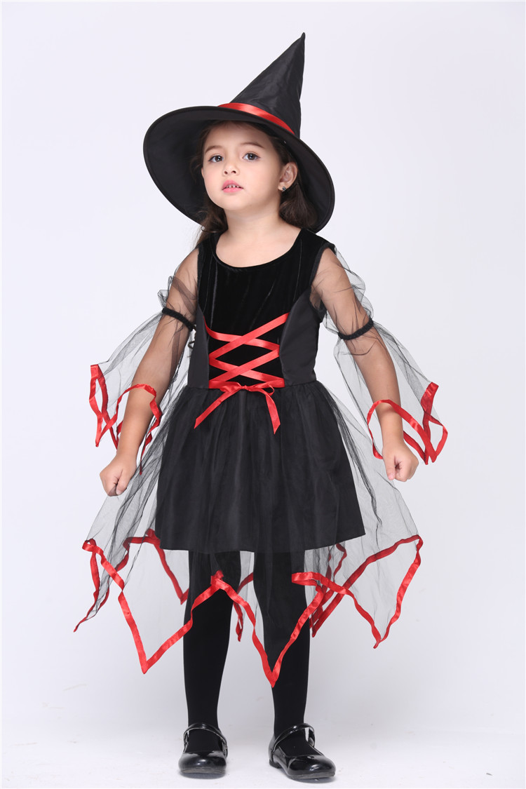 Children's Halloween Costume Cosplay Children Suit Female Witch ...