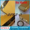 Высокое качество замена для iphone5s золото стекло задней части металла корпус аккумулятор кадров для iPhone 5S золотой цвет корпуса