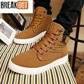 2016 Novos Homens Da Moda Botas Para Os Homens de Couro PU Respirável Sapatos Altos Homens Top Preço Barato Grande Tamanho 45 46