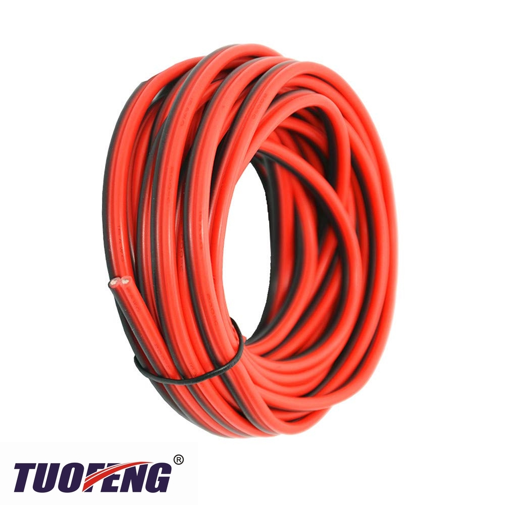 <font><b>16</b></font> <font><b>AWG</b></font> Silicone Electrical Wire 2 Conductor Parallel Wire line Soft and Flexible 1.3mm² Oxygen Free Strands Tinned Copper Wire image