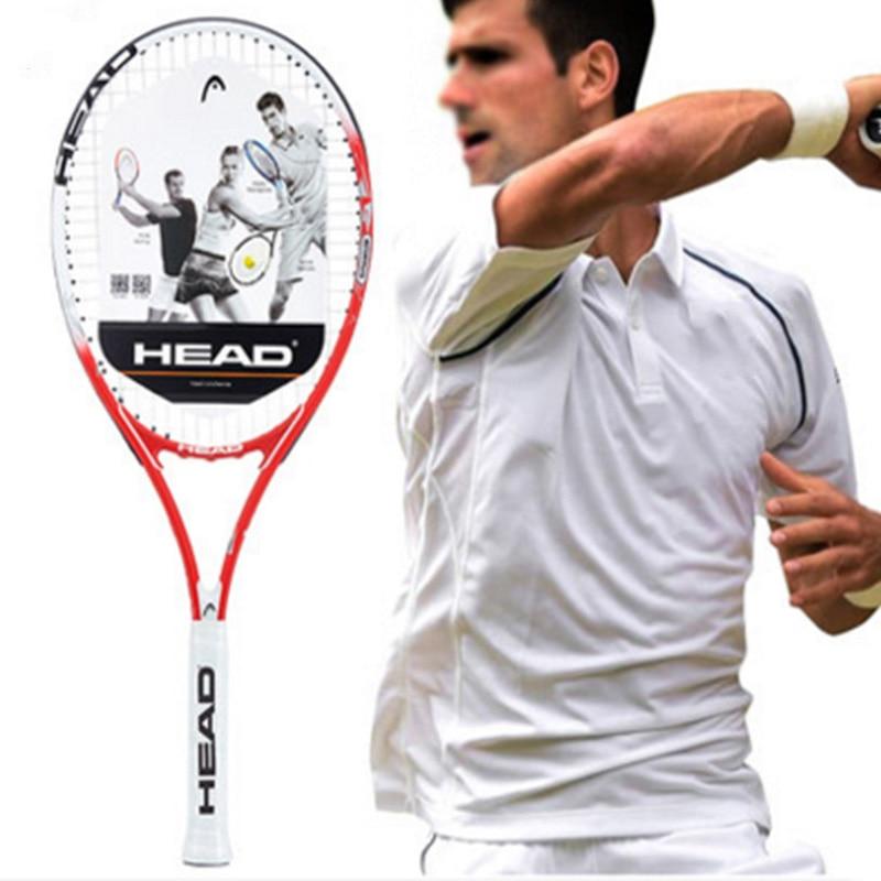 Tennis Racket Head Professional Racquet Sports Carbon Pickleball Padel String Bag Overgrip Dampener Tennis Bat For Men Women