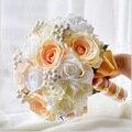 Высшего Качества ручной работы Из Бисера Брошь Шелковый Невесты Свадебный Свадебный Букет Невесты Европа Сша Кот Искусственный Цветок Принять Заказ