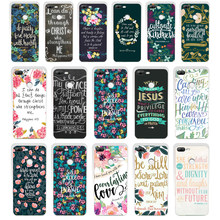 138SD Philippians Jesus Christ Christian Verse gift Soft Silicone Tpu Cover phone Case for huawei Honor 8 9 Lite 8X p9 lite 2016(China)