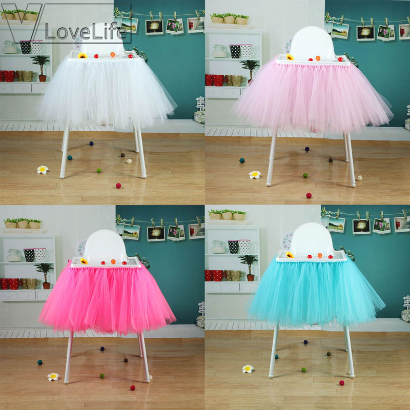 100cm x 35cm Tutu Tulle Table Skirts Baby Shower Birthday Decoration for High Chair Home Textiles Party Supplies100cm x 35cm Tutu Tulle Table Skirts Baby Shower Birthday Decoration for High Chair Home Textiles Party Supplies
