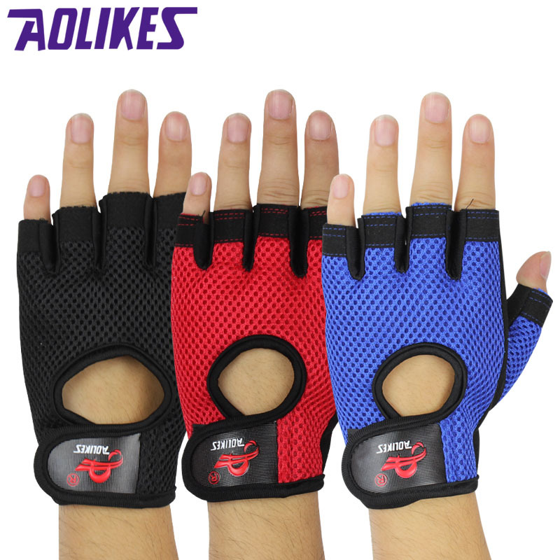 Sports Training Exercise Cycling font b Gloves b font Child Adult Anti skid Breathable Comfortable Half
