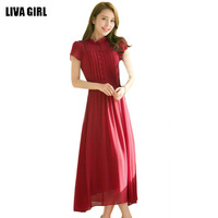 Summer Women Bohemian Dress Chiffon Beach Long Dresses A Line Vestidos A8