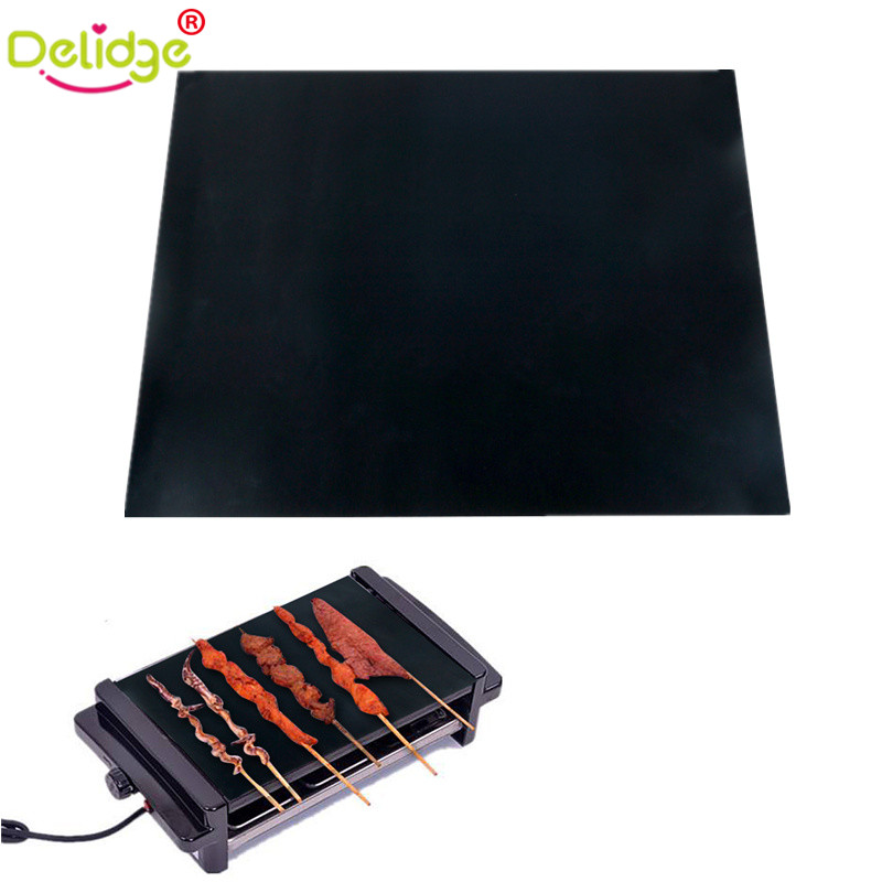 2 Pcs Lot Teflon Fiber Bbq Mat Reusable Non Stick Bbq