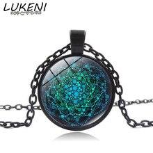Здесь можно купить   LUKENI 2017 New Flower of Life Necklace Om Yoga Chakra Pendant Mandala Necklace Fashion Glass Dome Sacred Geometry Jewelry XL149 Fashion Jewelry