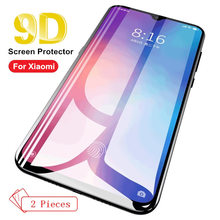 2PCS Tempered Glass For Xiaomi 6 8 Pro 9 SE Note 3 mi lite Pocophone F1 5X A1 6X A2 new 9D Full Screen Cover Protector Film