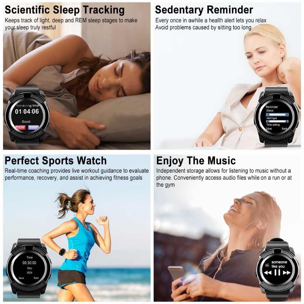 GEJIAN smart watch men's women's waterproof sports fitness bracelet Android video call watch with camera SIM card slot PK DZ09