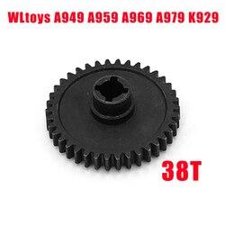 1P dla 1:18 WLtoys A959 38T Metal Spur Diff przekładnia główna A949 A969 A979 wymiana A949 24 RC samochodu w Części i akcesoria od Zabawki i hobby na