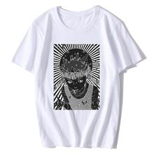 Junji Ito T Shirt Men/ Summer Cotton Tops Tees Print T shirt Men loose o-neck short sleeve Fashion Tshirts Plus Size s-XXL все цены