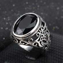 Best Price 2019 New Fashion Rings for Men Stone Antique Silver Plating Ring for Party Vintage Rings Jewelry  31057