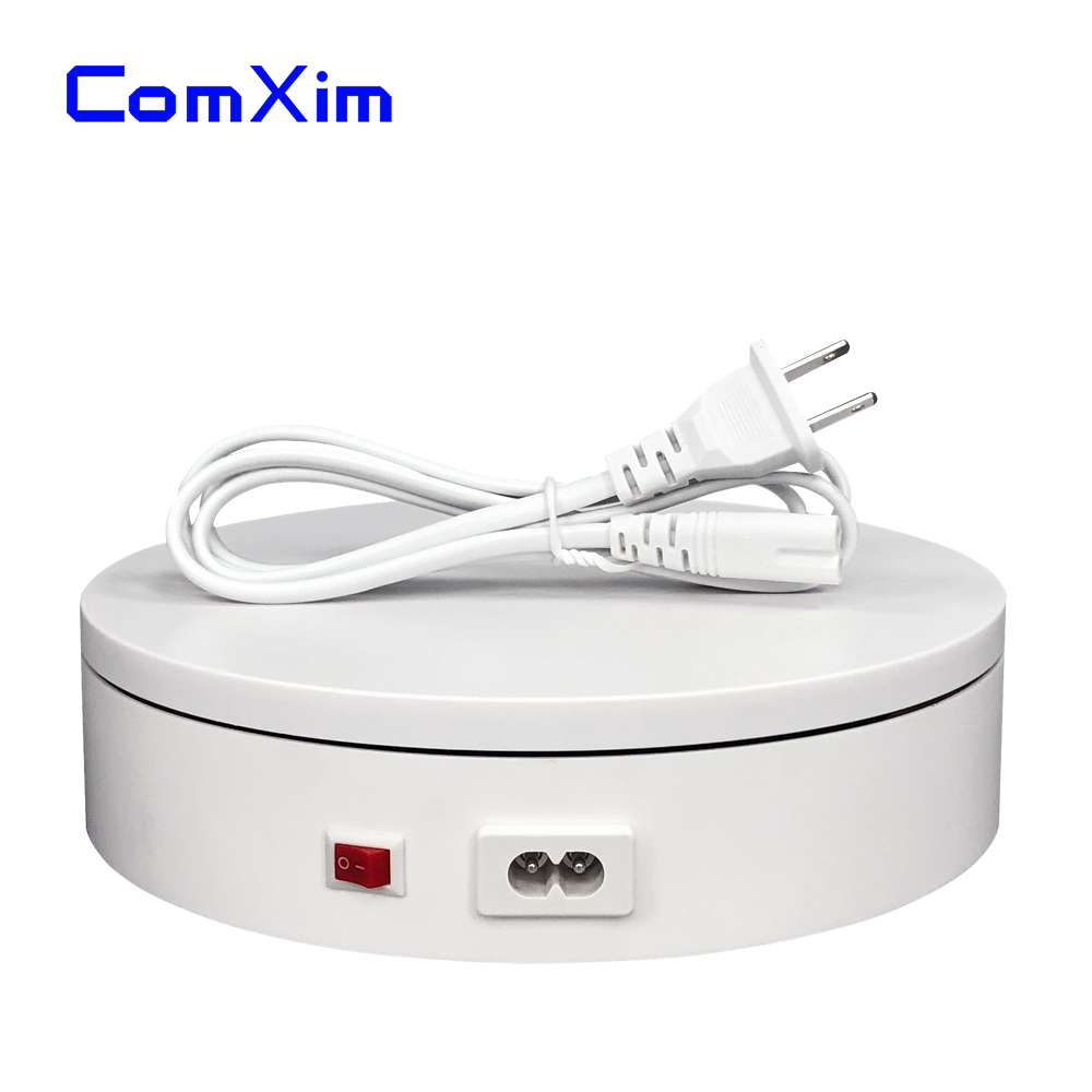 ComXim 20cm 7.87in 110V Electric Turntable 25sec/lap Random Rotation Product Display Photography Rotating Turntable
