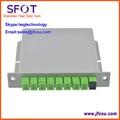 1*8 PLC Fibra Óptica Splitter, novo Design e bom uso em Caixa De FTTH, conector SC APC