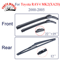 Windscreen Wiper Blades For Toyota RVA4 MK2 XA20 2000 2005 Fit Windshield Natural Rubber Wipers Arm