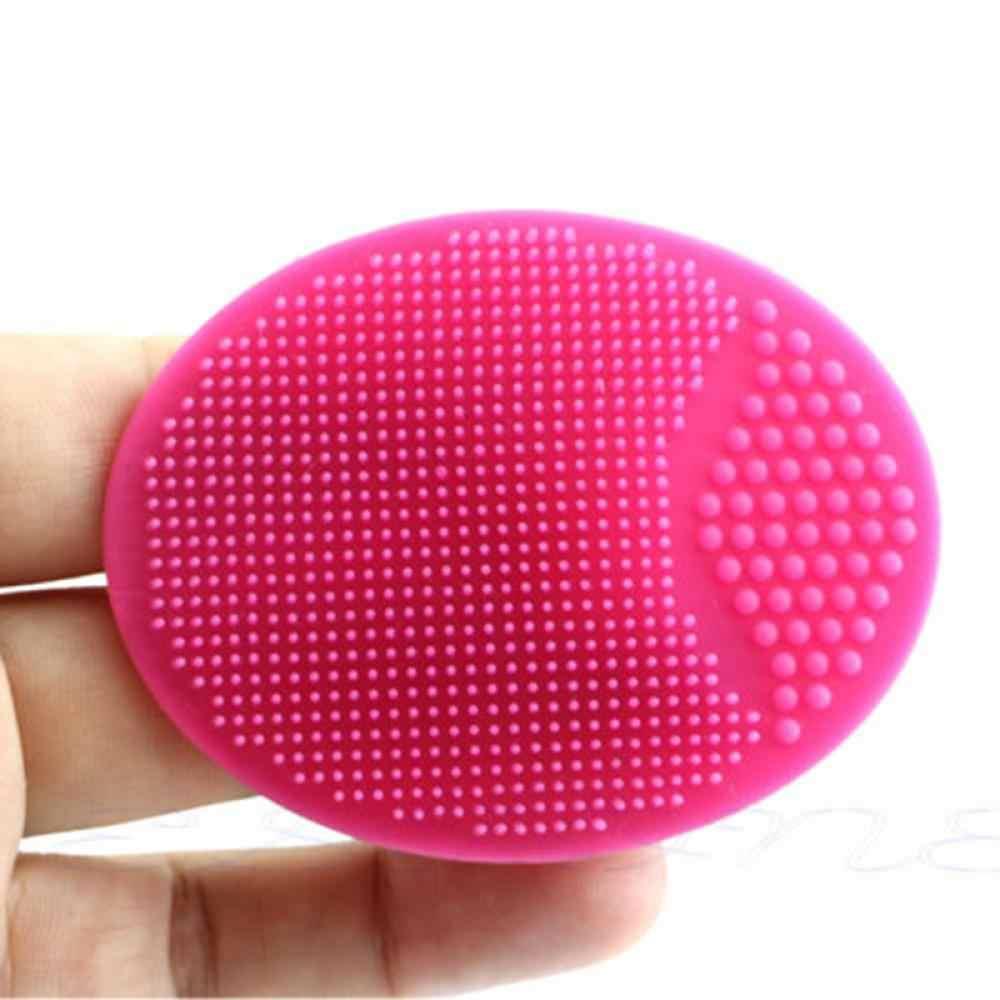 1 PC マジックシリコンオーバルにきび除去洗顔ブラシベビーヘッド洗濯スキンケア美容クリーニングパッド男性の女性のため