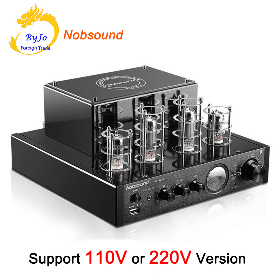 Nobsound MS-10D MKII Tube Amplificateur audio Stéréo Amplificateurs À Vide amplificador Support Bluetooth amplificateur USB 110 v ou 220 v