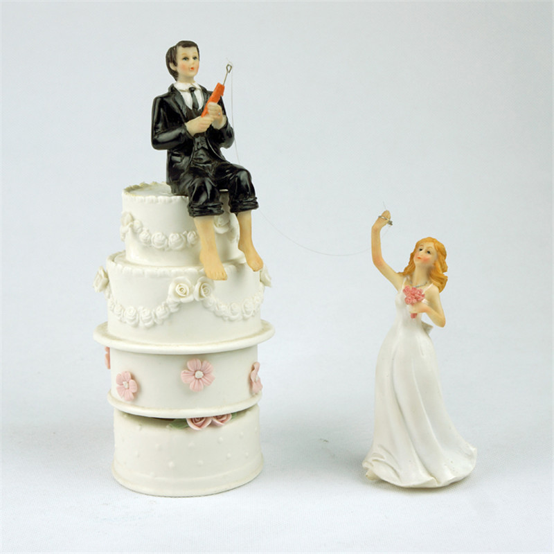 wholesale wedding cake toppers popular fishing cake topper buy cheap fishing cake topper 27439