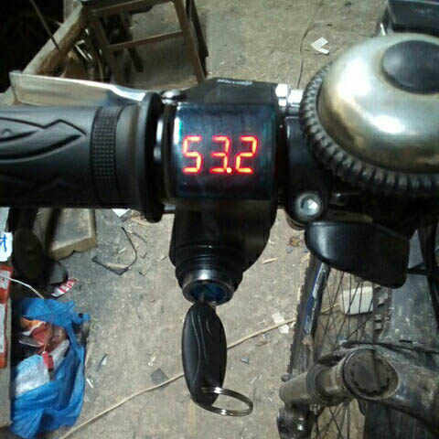 12V-99V Electric Bike LCD Battery Display Speed Control 3 wires for Electric Bicycle Scooter