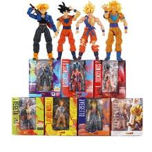 7styles 14 colors Dragon Ball Z Super Saiyan Son Gokou Vegeta Trunks PVC Action Figure Toys For Kids