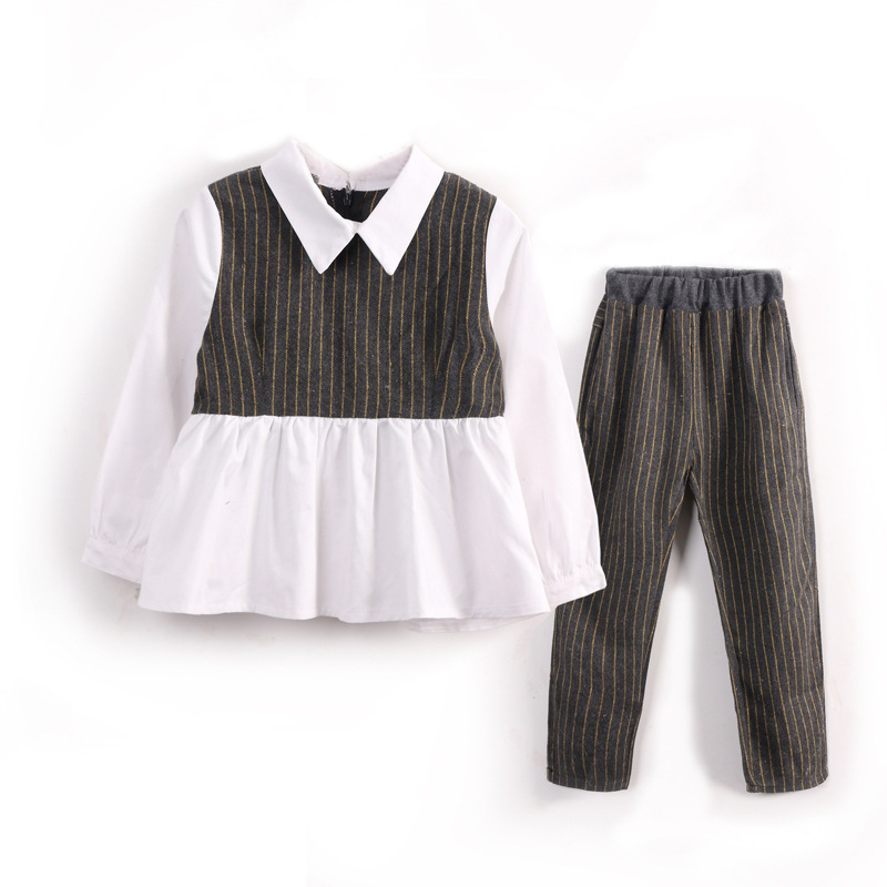 Back to School Children Girls Clothing Sets Autumn Teenage Girls Sport Suit Plaid Suit School Kids Tracksuit For Girls Clothes 2 pcs children girls clothing sets spring little teenage girls sport suit school kids clothes tracksuit striped tops pants set