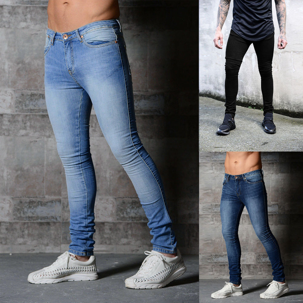 Pants Casual Jeans Trousers Slim-Fit Skinny Long Stretchy New-Style Straight High-Quality