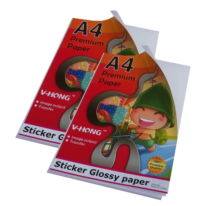 Glossy Paper used for ink jet printer /high Glossy Photo Self Adhesive Sticker paper