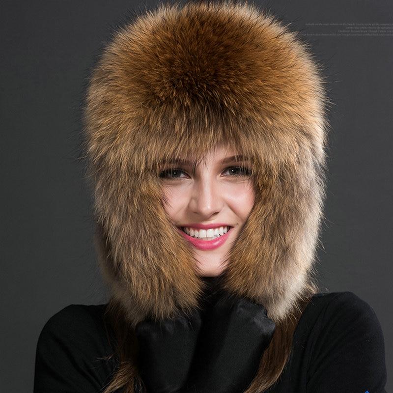 Luxe Sibir Style Kürk Şapka Rus Yenotekası Qadınlar Üçün Tam - Geyim aksesuarları - Fotoqrafiya 4