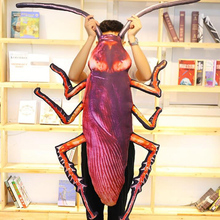 Simulation 3D Cockroach Plush Pillow Doll Cartoon Insect Toy Washable Spoof Boy Creative Birthday Gift