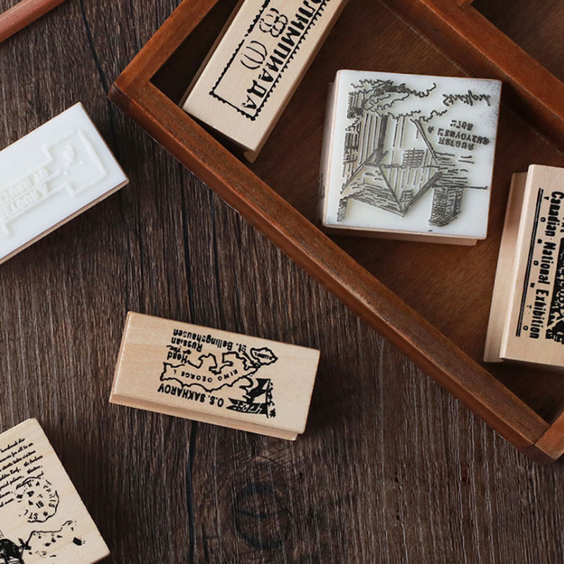 1 pcs Travel-memory book series wooden stamp diy Handmadedecal stamps for scrapbooking diy stamps Photo Album Craft gifts the memory book