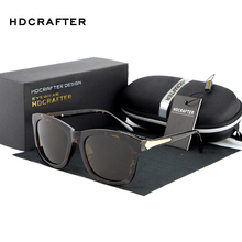 HDCRAFTER Fashion Square Lens Polarized Sunglasses Retro Summer Driving Sun Glasses for Women Luxury Brand Designer Eyewear