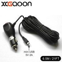 Super Length 6 5m 21ft Mini USB Car Charger For DVR Camera GPS Car Radar Input