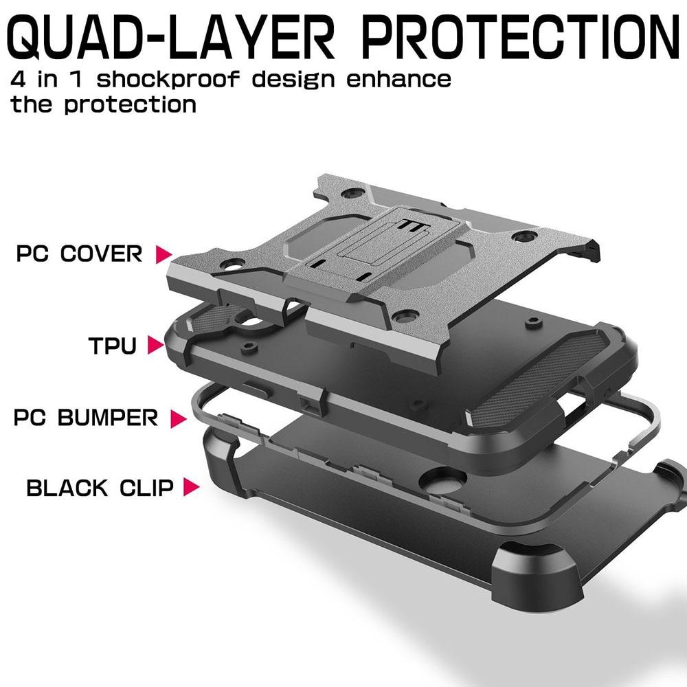 Heavy Duty Durable Armour Case Holster + Belt Clip Kickstand - Բջջային հեռախոսի պարագաներ և պահեստամասեր - Լուսանկար 5