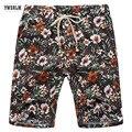 Telas de Calidad de verano de Lino Pantalones Cortos tamaño grande shorts junta cortos no se encoge fresco y transpirable viaje Adecuado