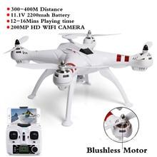 BAYANG X16 2.4G RC Quadcopter Drone Profesional Motor Sin Escobillas Con 2MP HD Wifi Cámara RTF Helicoper