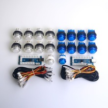 DIY Arcade Set Kits 24mm / 30mm LED Push Buttons USB Cable Encoder Board To PC Joystick & Button for Mame & Raspberry Pi 1 2 3