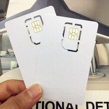 10PCS Writable Programmable Blank SIM USIM Card 4G LTE WCDMA GSM Nano Micro 2FF 3FF 4FF for Telecom Operator