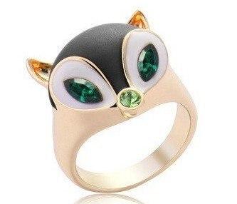 Fashion Hot Sale New Arrival Promotion Cute Sweet Fox Rhinestone Ring R269