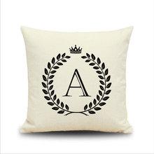Singles Day 2017  Promotion The English Alphabet Emoji Cushion For Sofa Throw Decorative Pillow Blanket Sofa Decor Couch Cushions Creative Blanket 45X45 CM