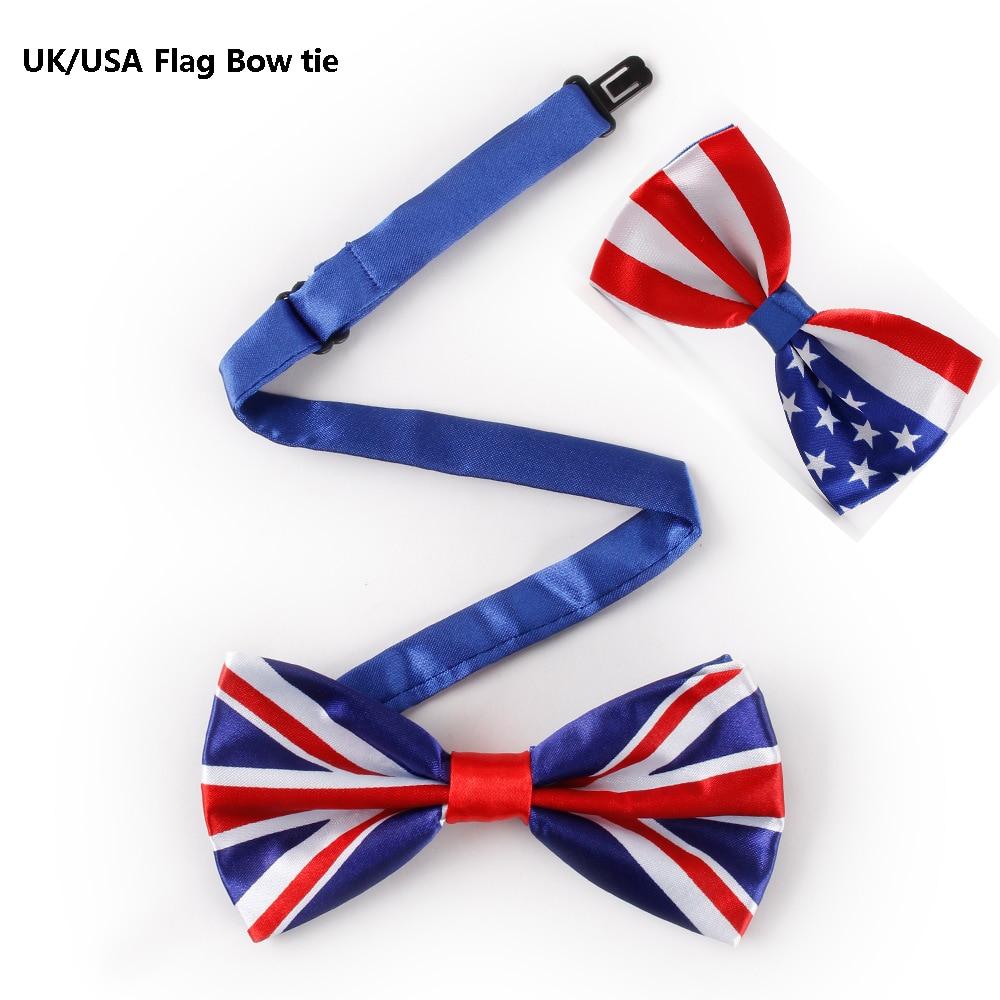 Bekleidung Zubehör Veektie Neue Neuheit Bowtie Herren Anzug Mode Drucken Uk/usa Amerikanische Flagge Großen Bogen Krawatten Für Männer Rot Weiß Sterne-und-streifen