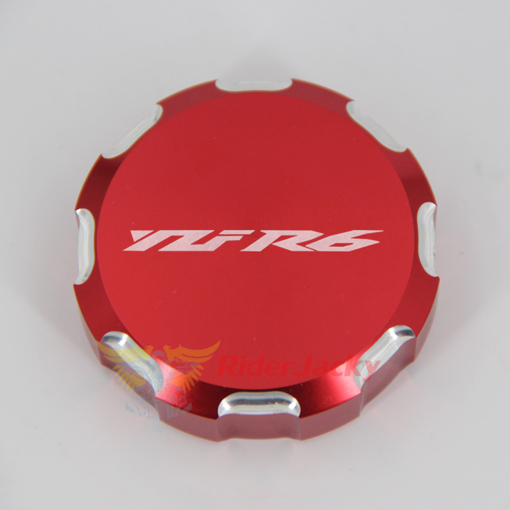 Worldmotop Brake Oil Cap Gas Cap Cover Motorcycle Brake Fluid Reservoir Cap for Yamaha YZF-R6 2006-2014 blue