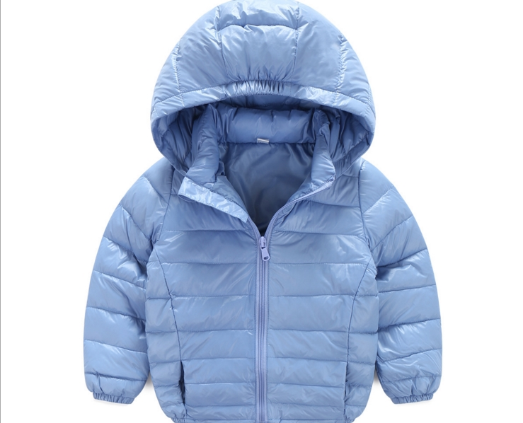 2016 new boys and girls candy color small fresh warm zipper down jacket